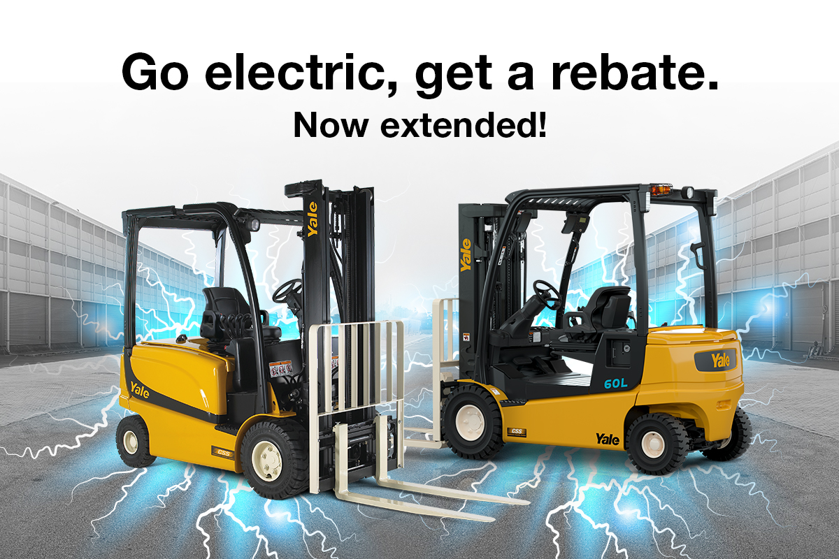 Go electric, get a rebate. Now extended!